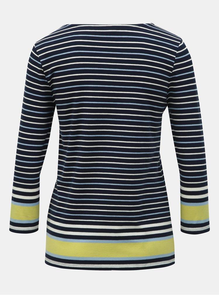 Tricou albastru inchis in dungi M&Co