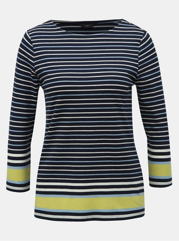 Tmavomodré pruhované tričko M&Co