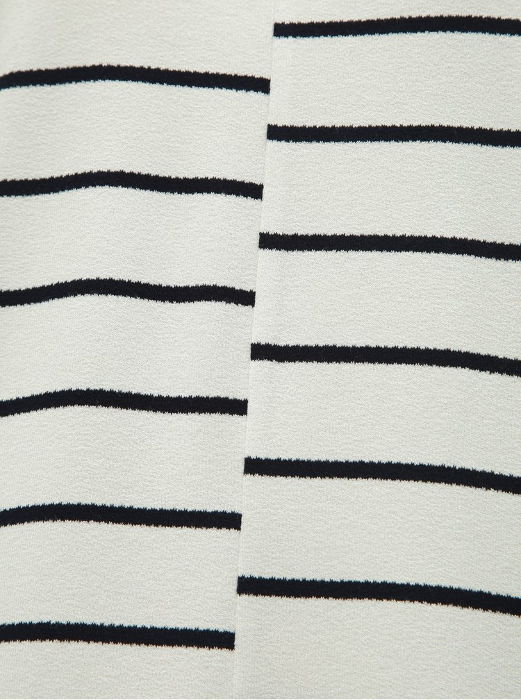 Tricou negru-alb in dungi M&Co