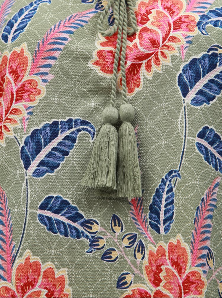 Khaki květovaná halenka M&Co