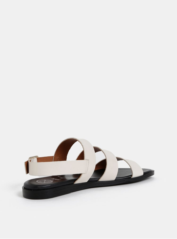 Krémové kožené sandály OJJU