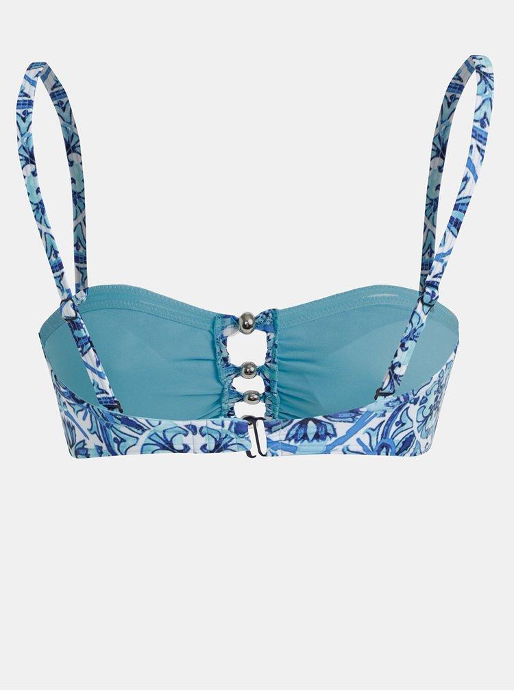 Modrý vzorovaný horní díl plavek M&Co