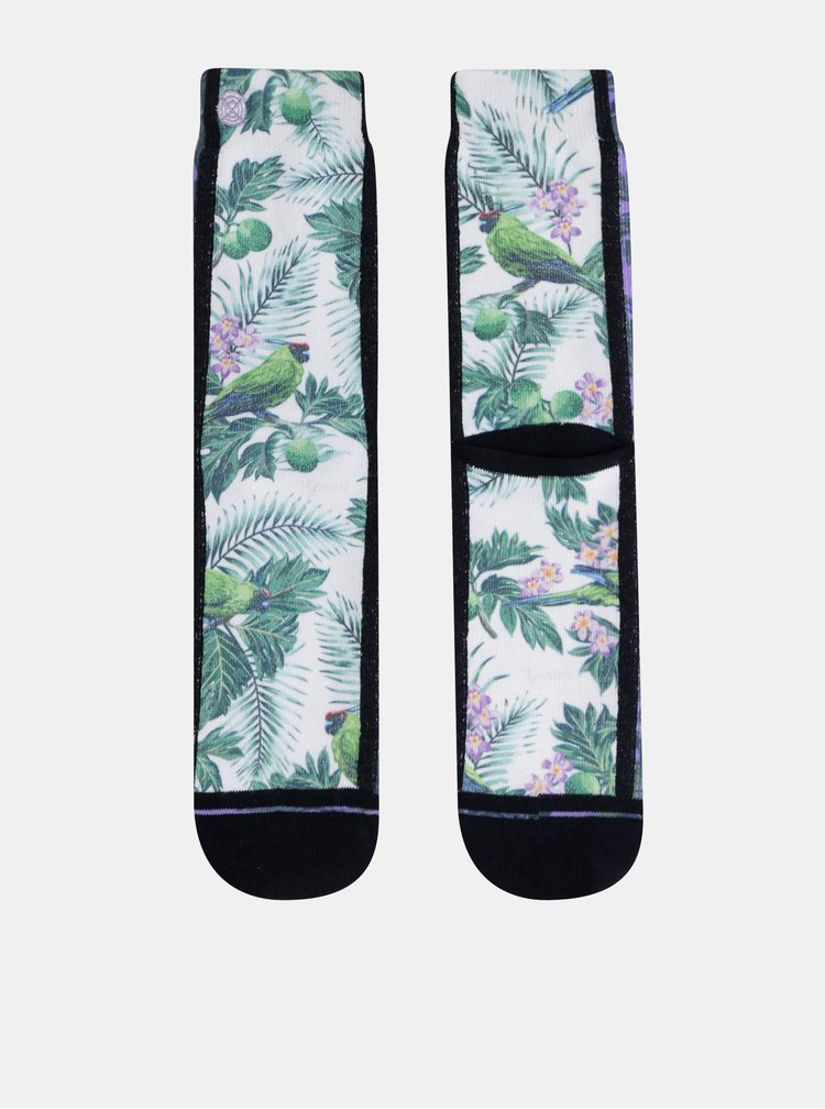 Bílé dámské vzorované ponožky XPOOOS