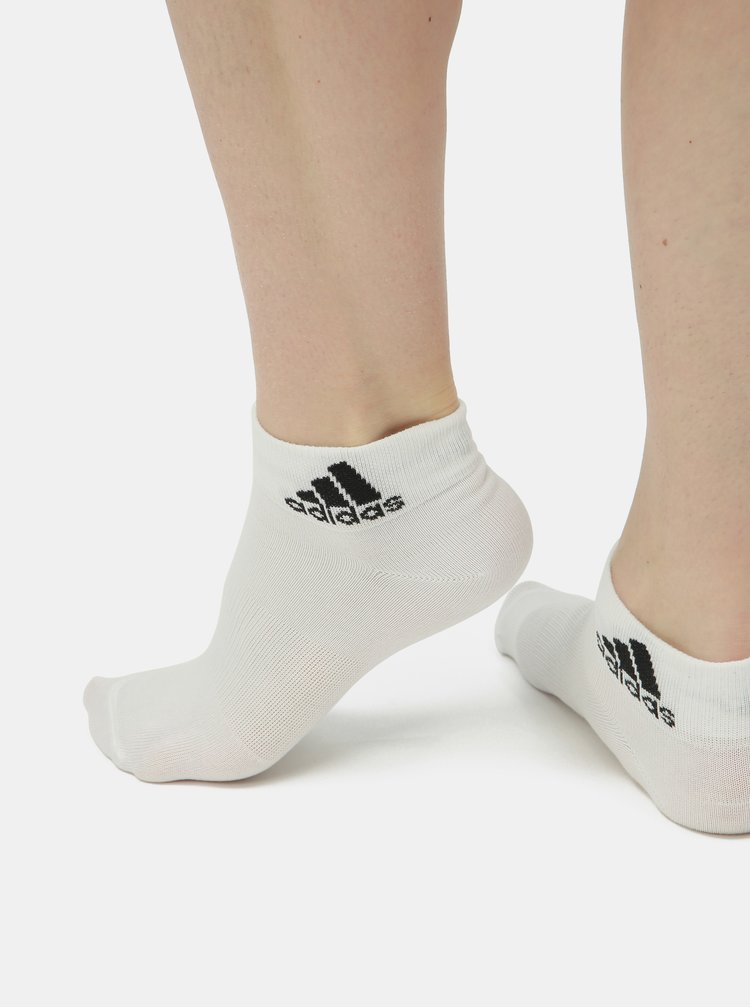 Sada tří párů bílých ponožek adidas Performance