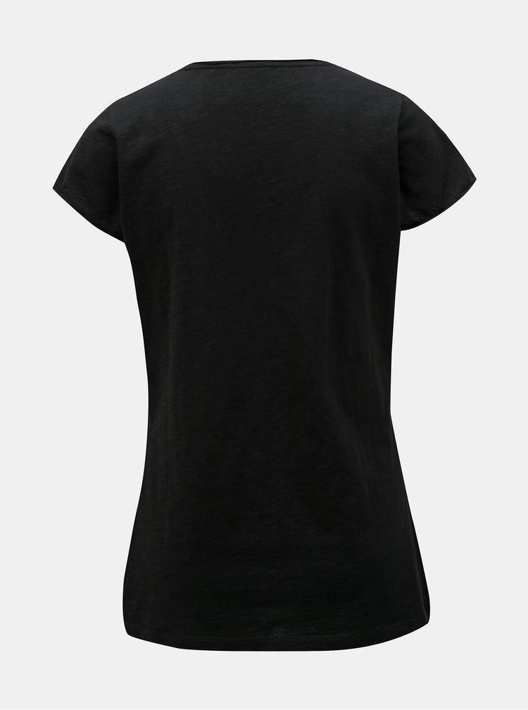 Čierne dámske tričko s potlačou Maloja Dorta