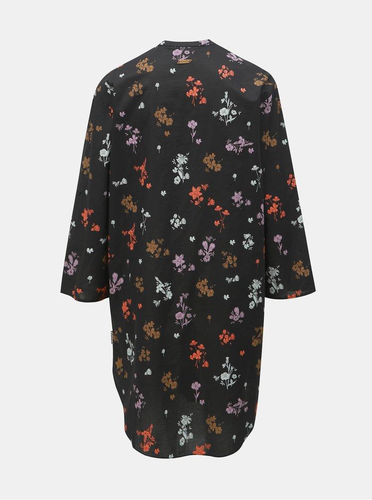 Rochie tip camasa neagra florala Maloja Fontana