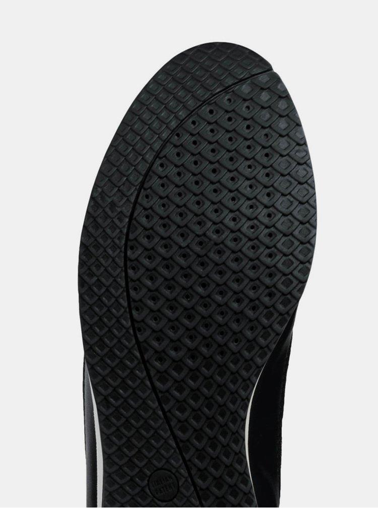 Čierne dámske tenisky s metalickými detailmi Geox Avery