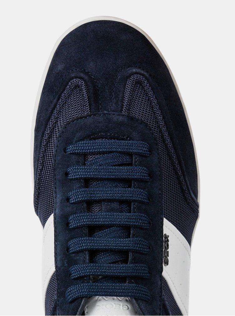 Modré pánské tenisky s koženými detaily Geox Kennet