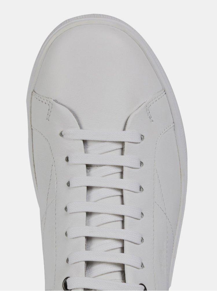 Bílé pánské kožené tenisky Geox Jharrod