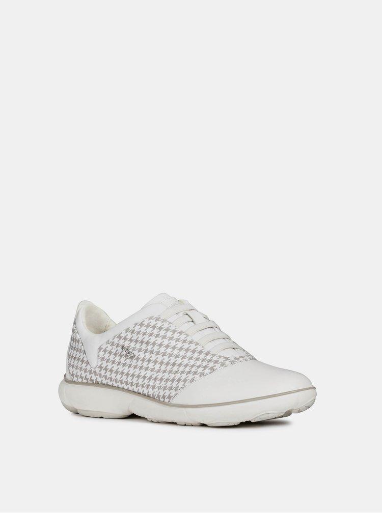 Pantofi sport albi de dama din piele Geox Nebula