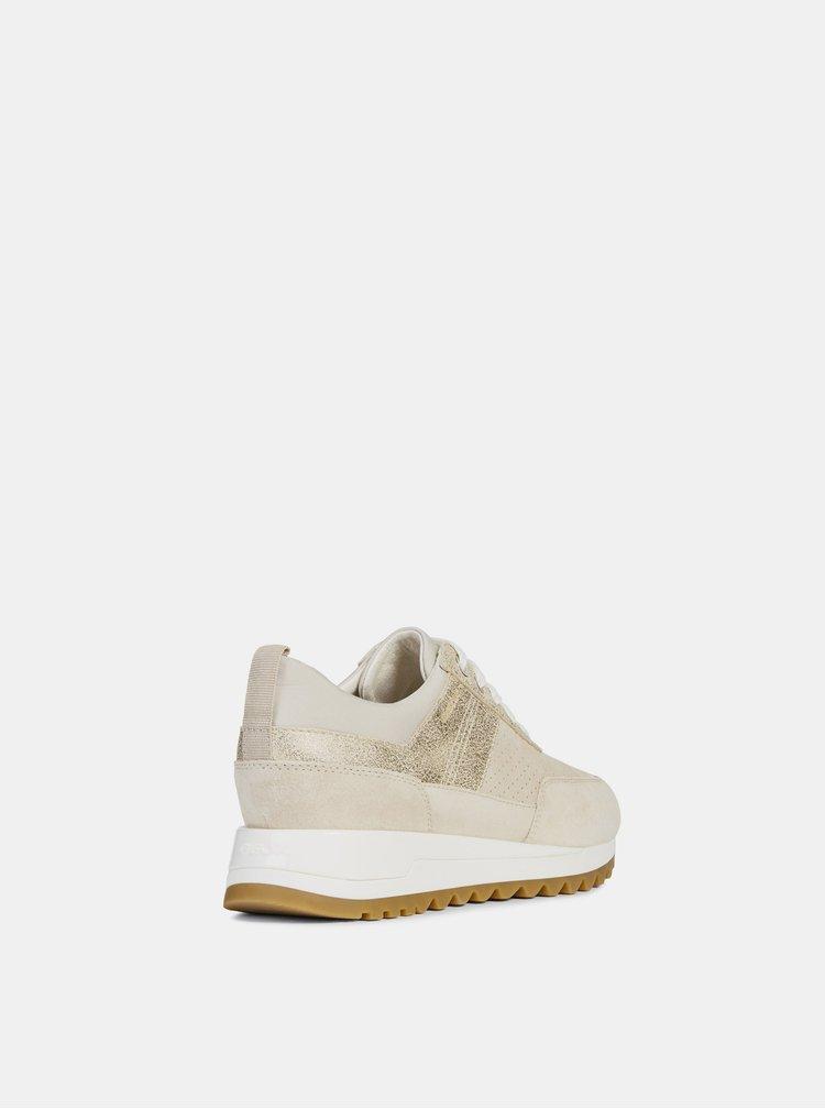 Pantofi sport bej de dama din piele intoarsa Geox Tabely