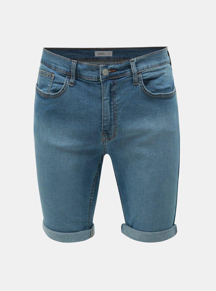 Modré rifľové kraťasy Burton Menswear London