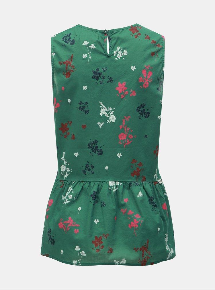 Top verde floral Maloja Chapella