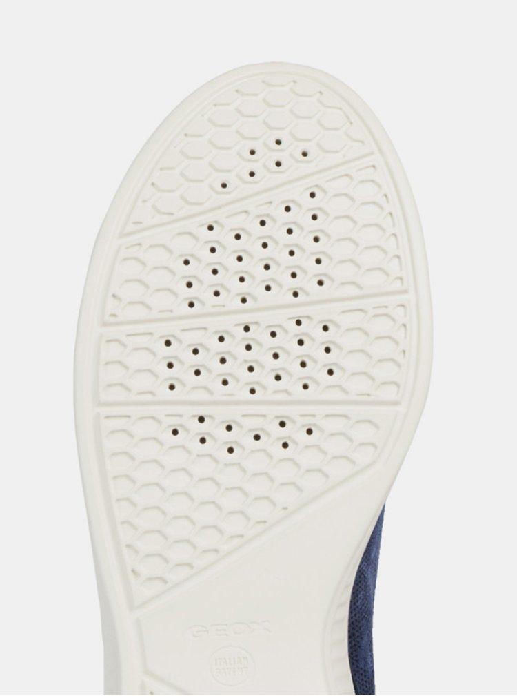 Modré dámské semišové tenisky Geox Theragon