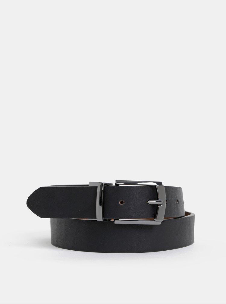 Černo-hnědý oboustraný pásek Burton Menswear London