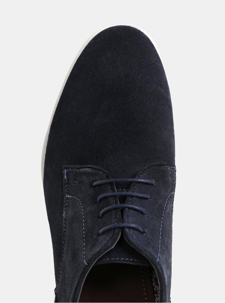 Tmavomodré pánske poltopánky Burton Menswear London