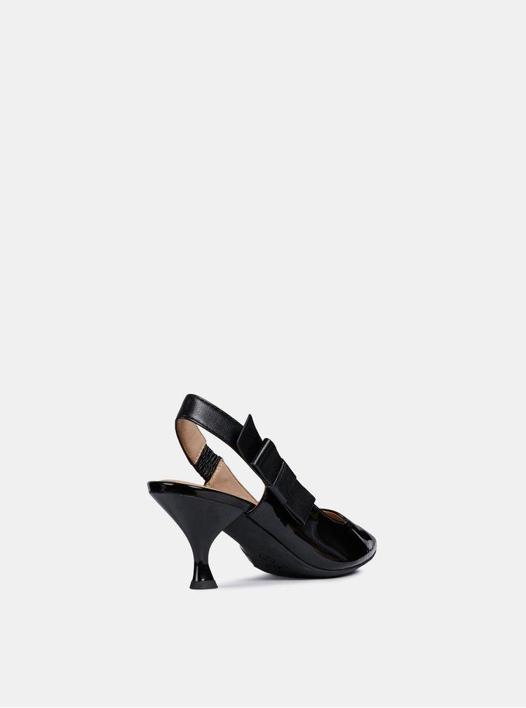 Pantofi negri din piele Geox Elisangel
