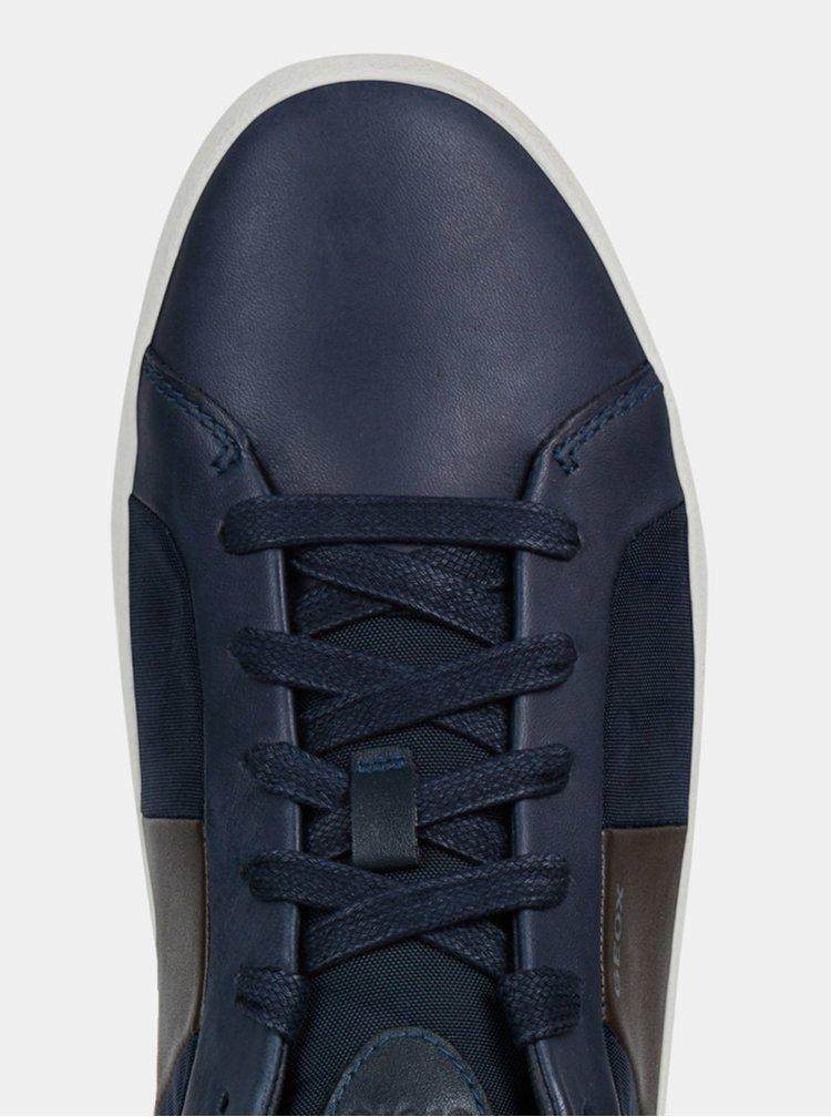 Modré pánské kožené tenisky Geox Warley