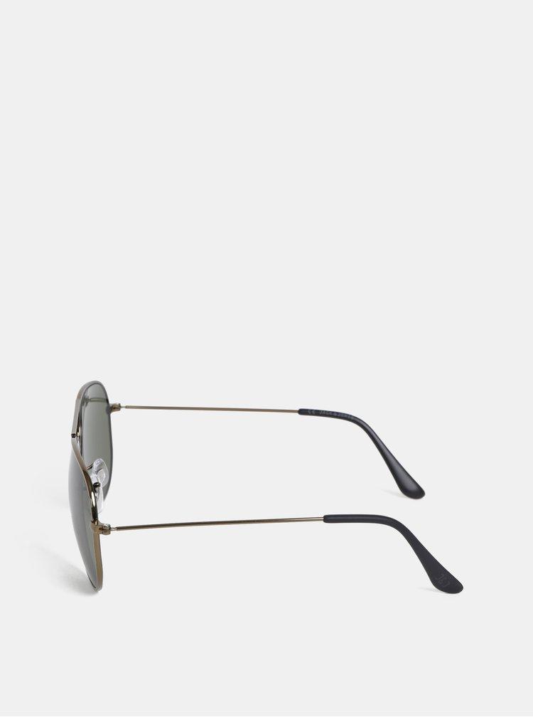 Tmavě šedé sluneční brýle Jack & Jones Pirma
