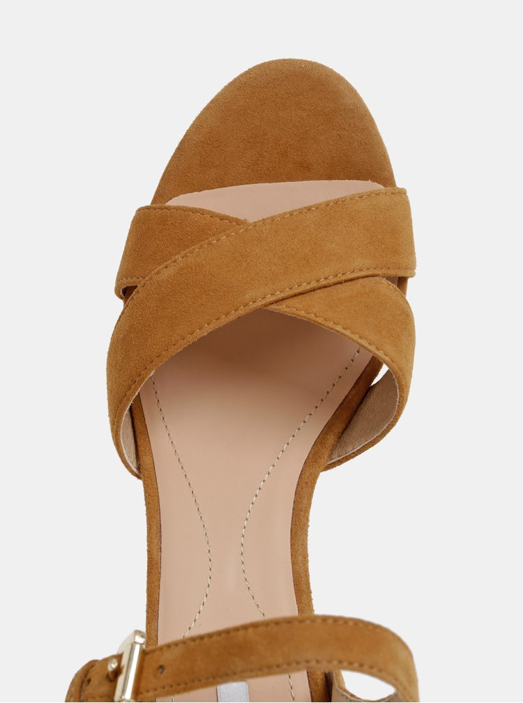 Hnedé dámske semišové sandálky Geox Soleil