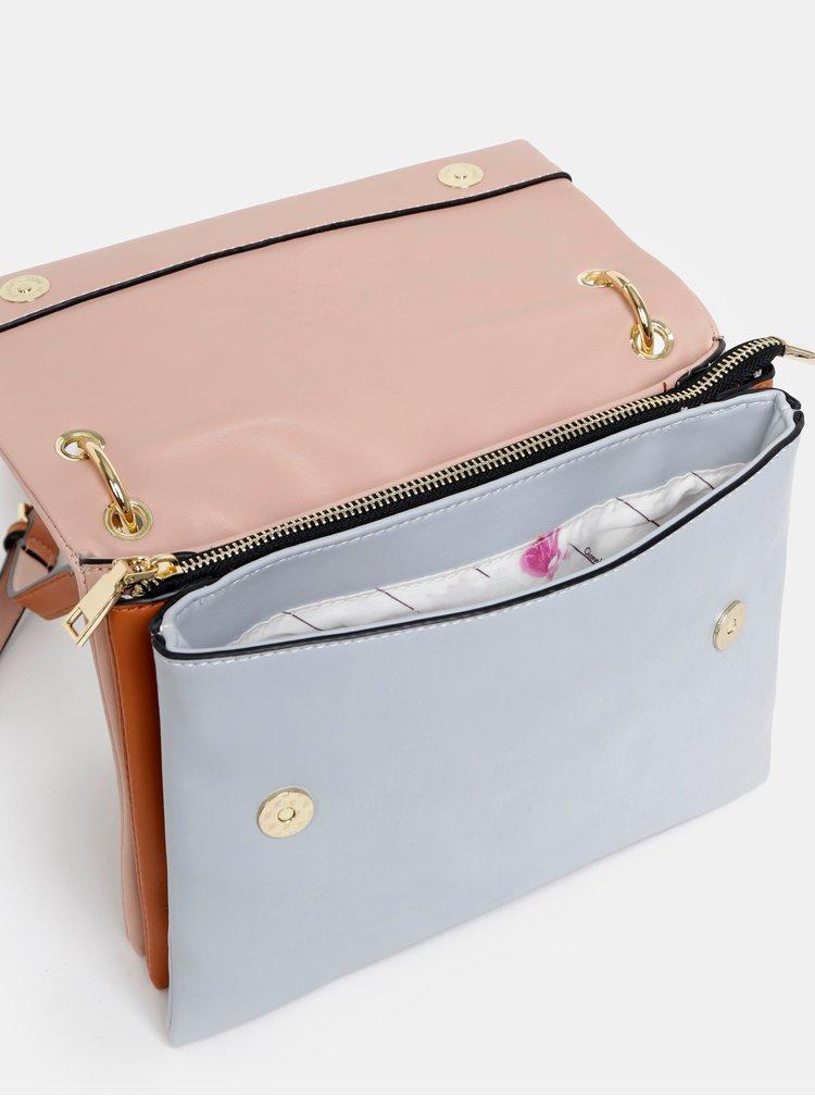Modro-růžová crossbody kabelka Gionni Alice