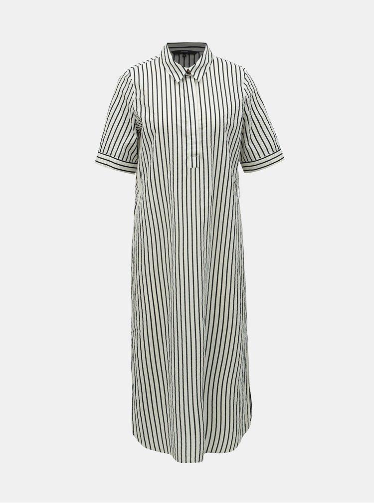 Černo-bílé pruhované košilové šaty VERO MODA Cassie