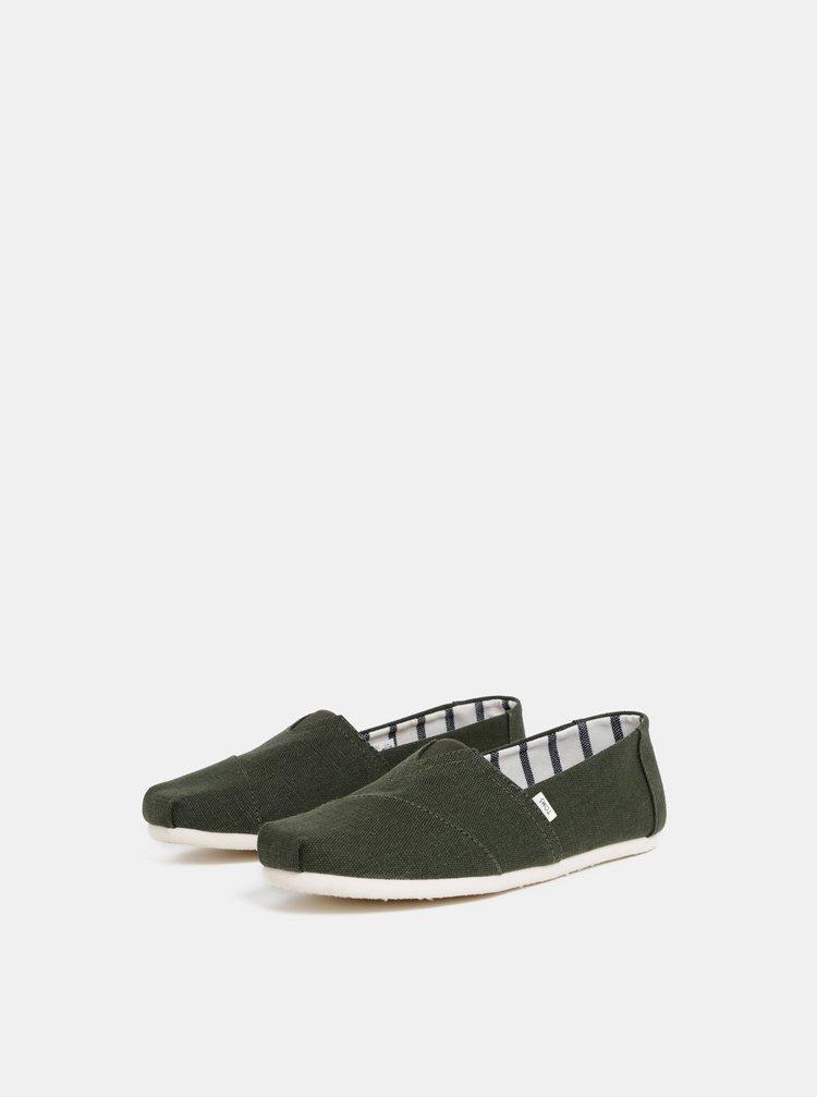 Pantofi slip on barbatesti verzi TOMS
