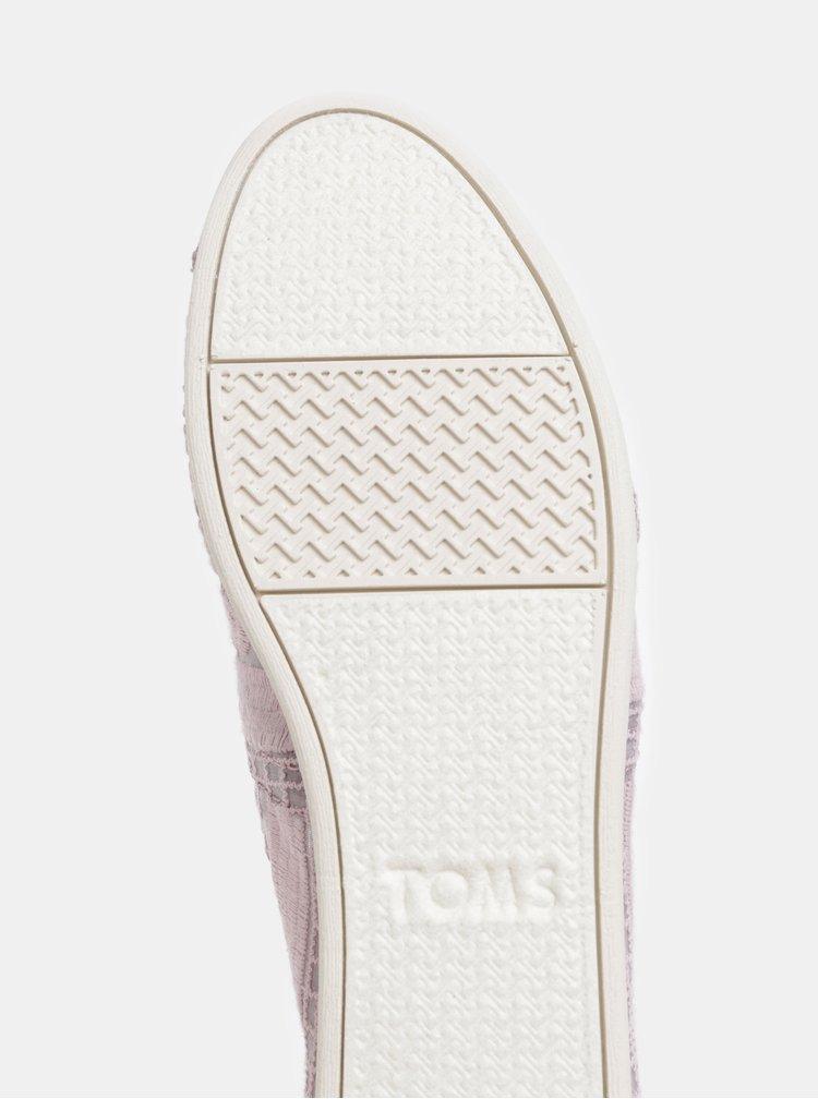 Pantofi slip on mov deschis de dama TOMS