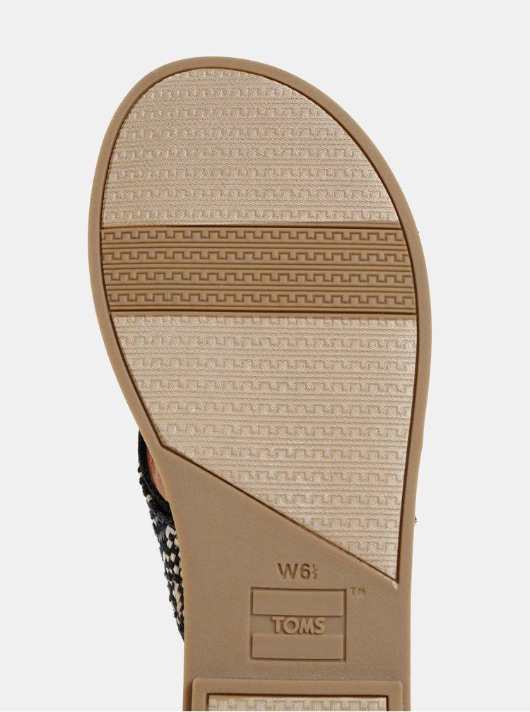 Papuci negri de dama cu model TOMS