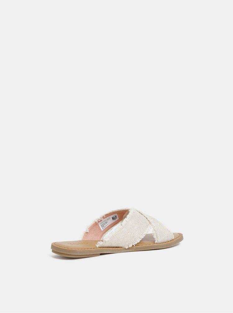 Papuci bej de dama cu irizatii metalice TOMS