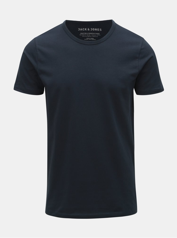 Modré basic tričko Jack & Jones