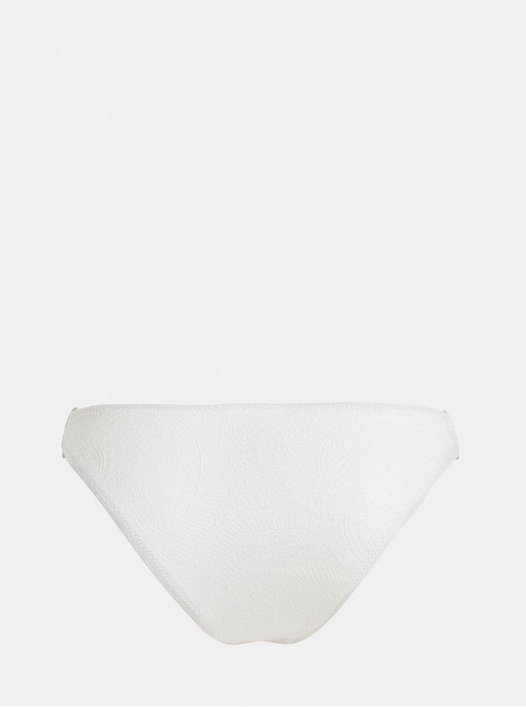 Slip de baie alb cu model discret Y.A.S Inoa