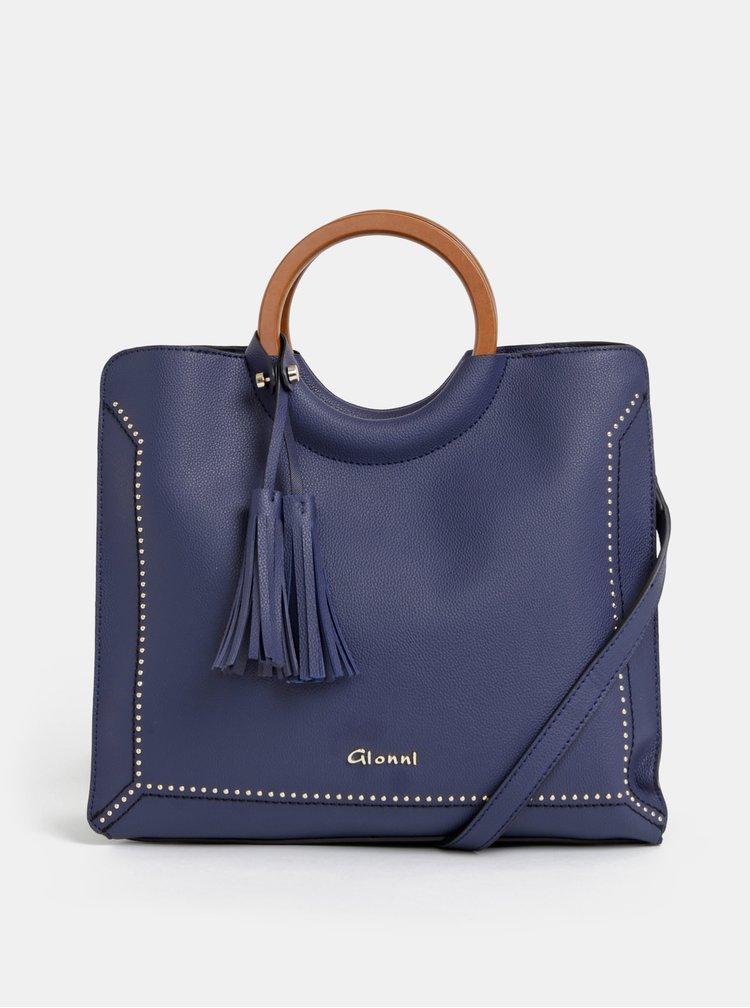 Tmavě modrá kabelka se střapci Gionni Ruby