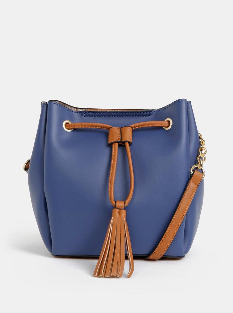 Tmavě modrá vaková crossbody kabelka Gionni Mary