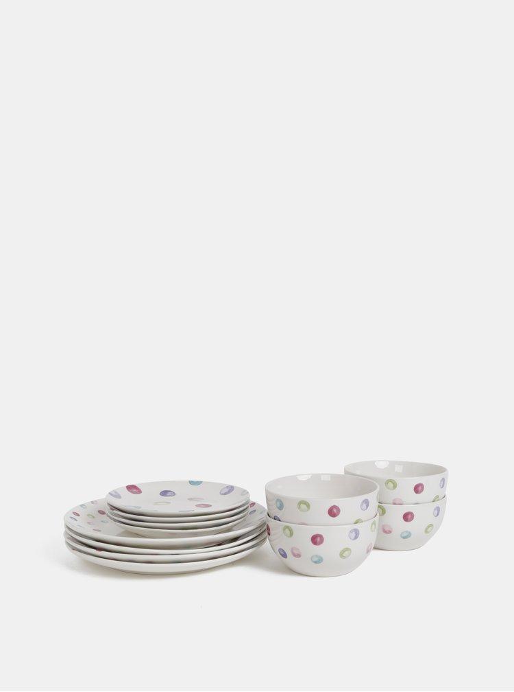 Kolekcia dvanástich kusov bodkovaného riadu Cooksmart