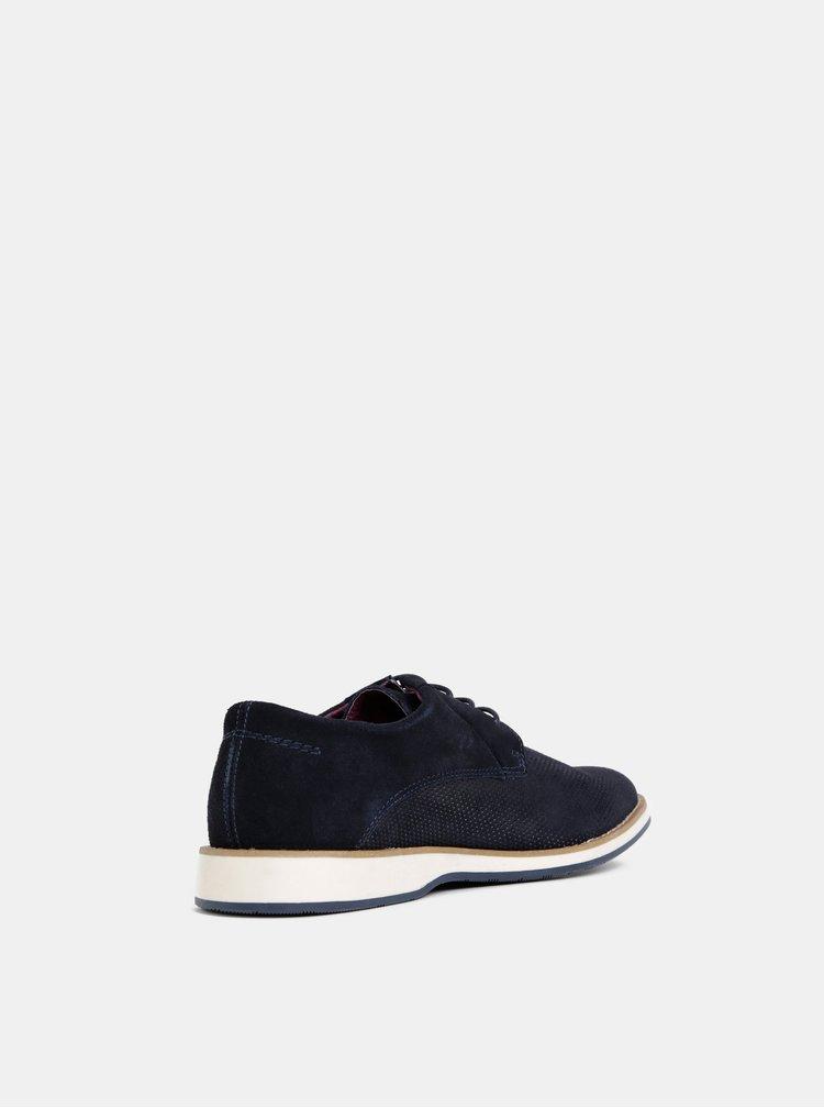 Pantofi barbatesti albastru inchis din piele intoarsa Dice Glover