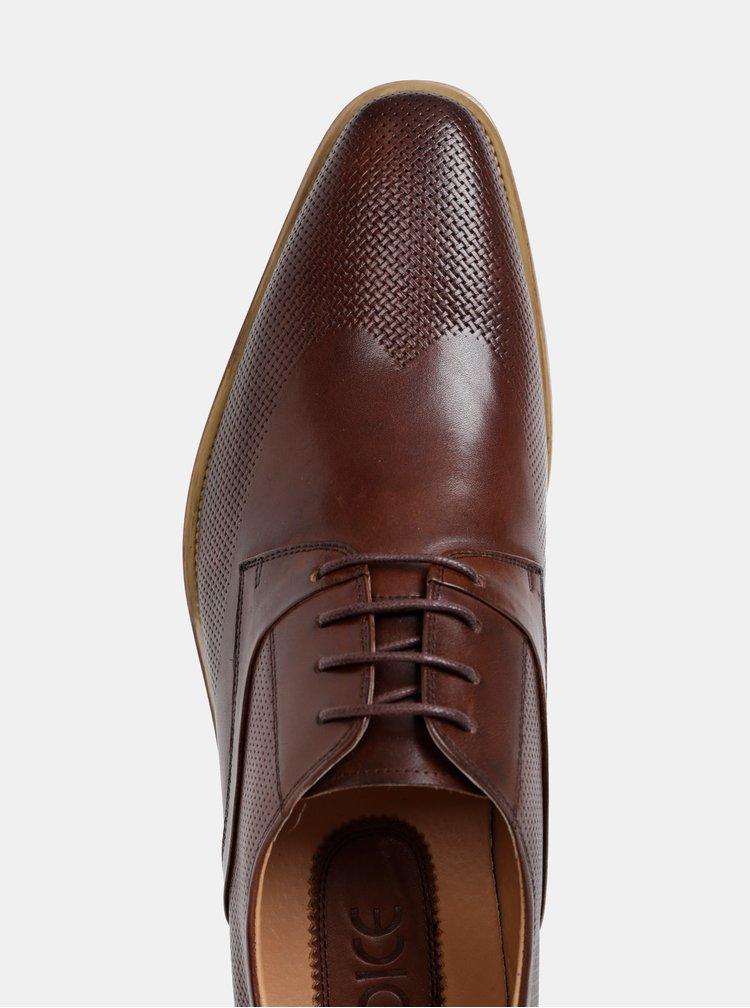 Pantofi barbatesti maro inchis din piele Dice Royce