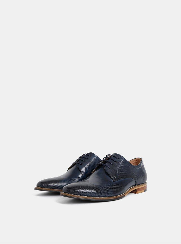 Pantofi barbatesti albastru inchis din piele Dice Shelby