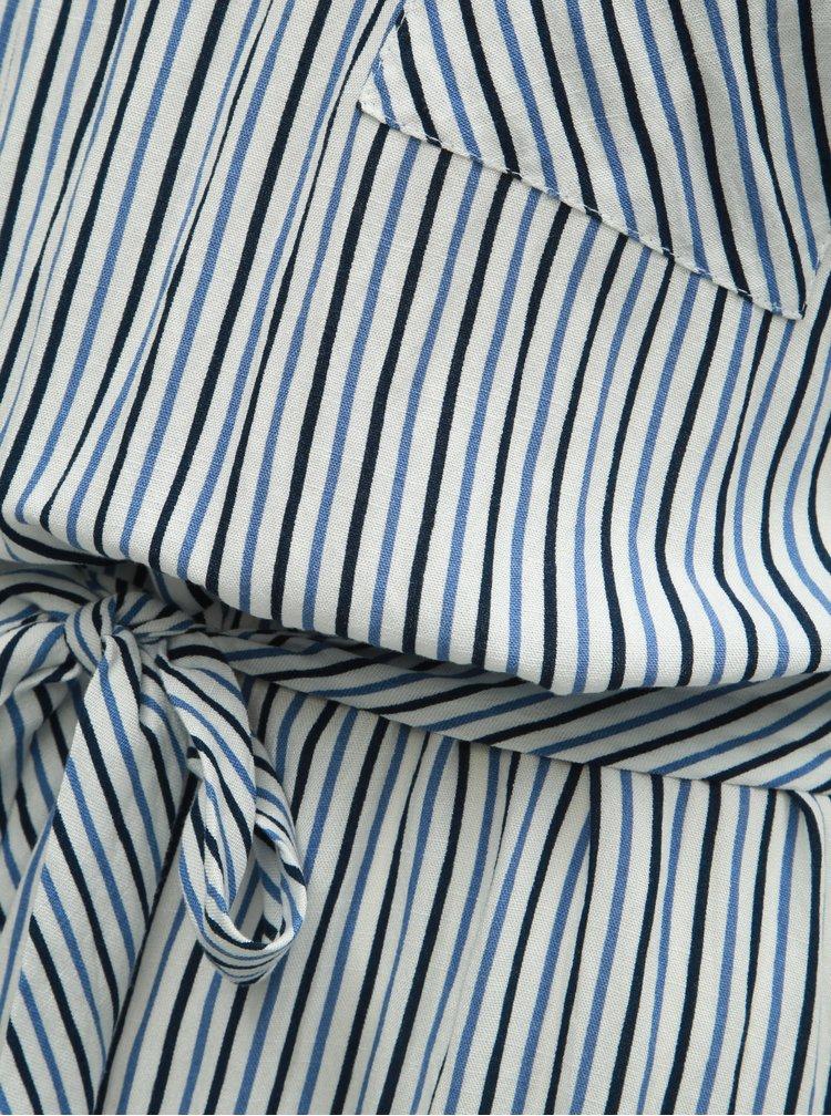 Bielo–modré pruhované šaty ONLY Lillo