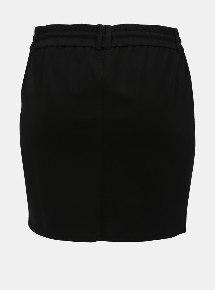 Černá sukně s kapsami ONLY CARMAKOMA Gold Trash