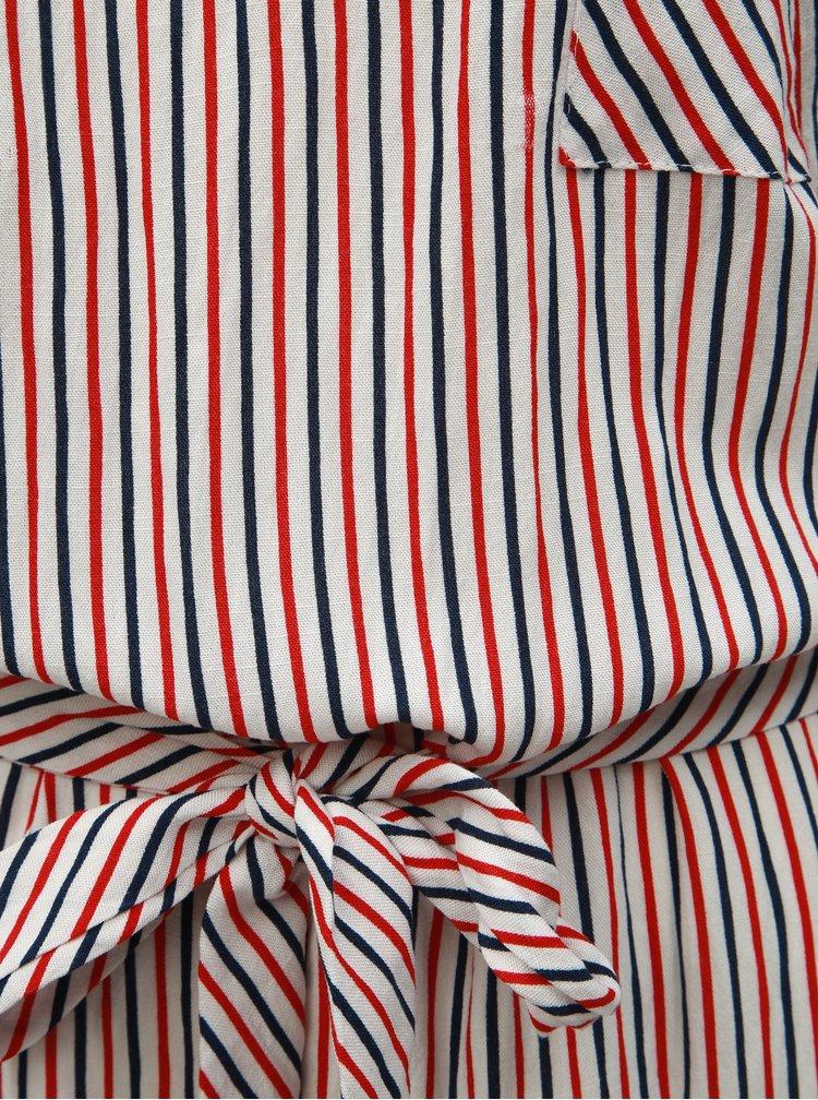 Bílo-červené pruhované šaty ONLY Lillo