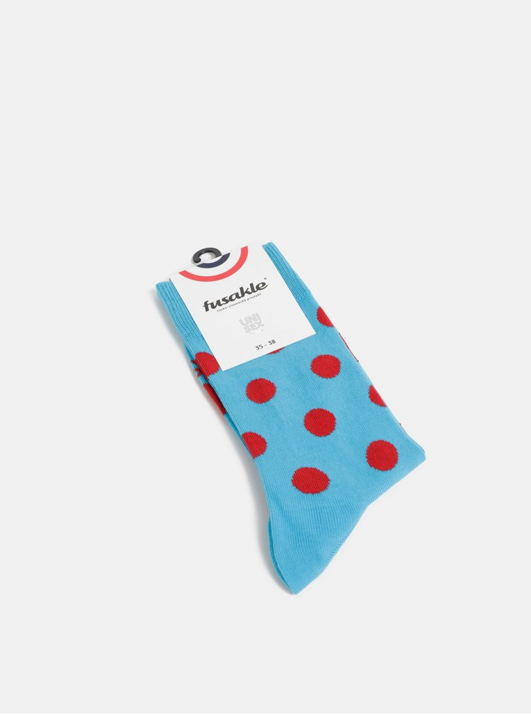 Modré puntíkované ponožky Fusakle Guličkár nápadný
