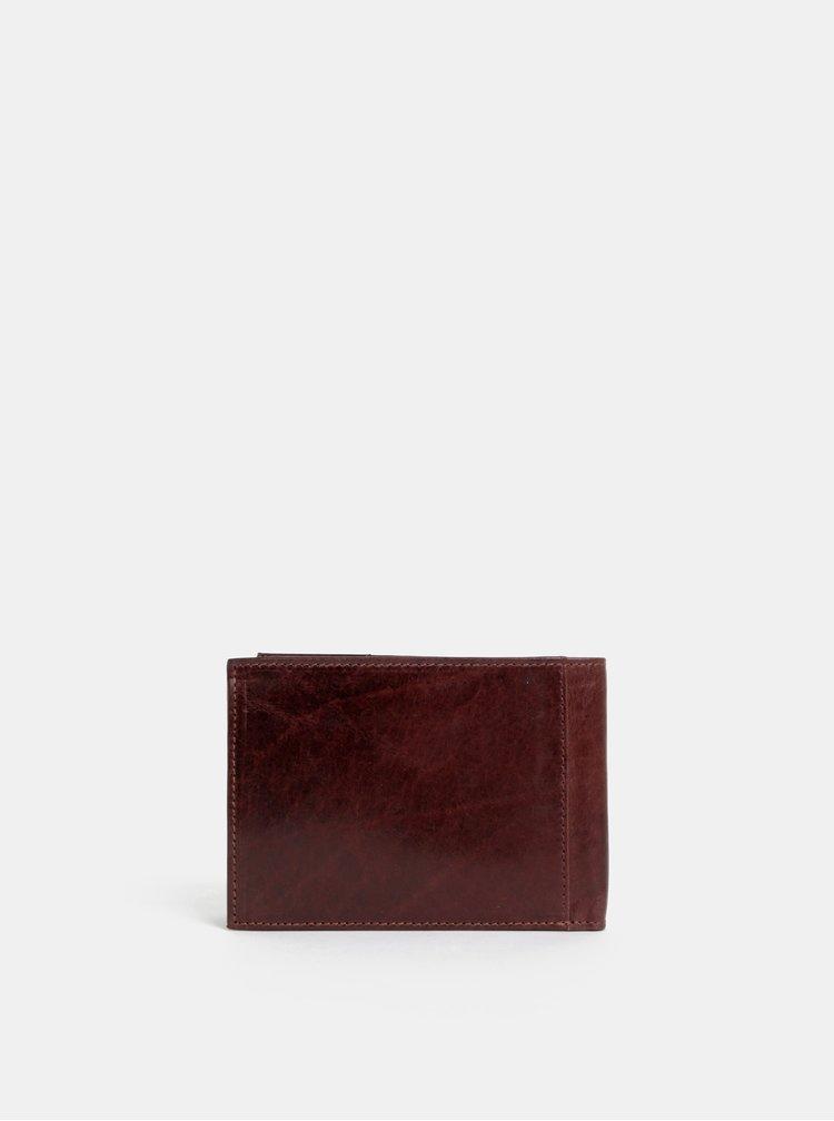 Tmavě hnědá pánská kožená peněženka Dice Vance