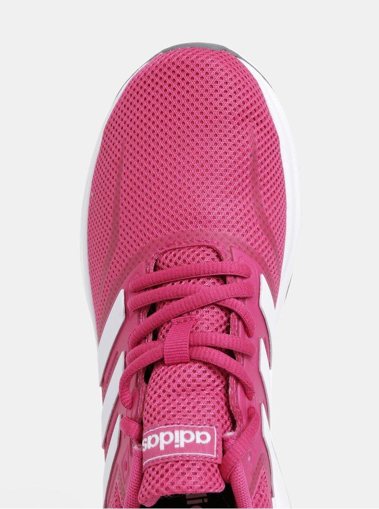 Tmavoružové dámske tenisky adidas CORE Funfalcon