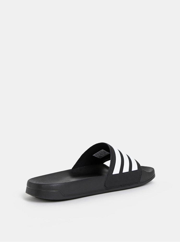 Černé pánské pruhované pantofle adidas CORE Adilette Shower