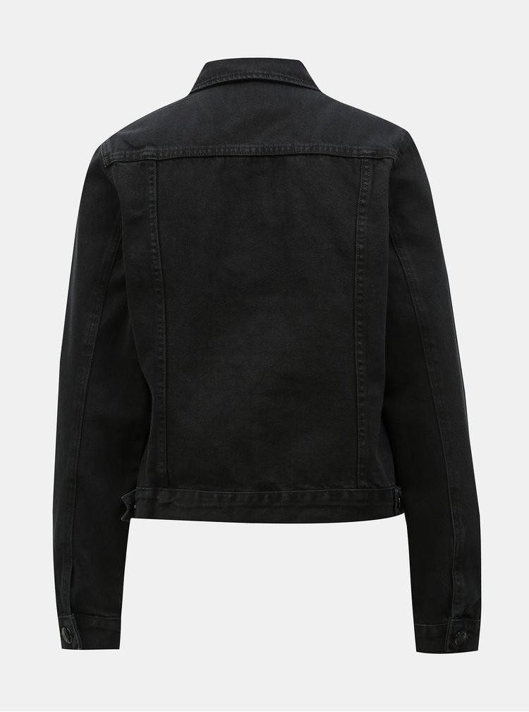 Černá džínová bunda Dorothy Perkins