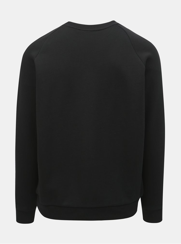 Čierna pánska mikina s potlačou adidas Originals Trefoil