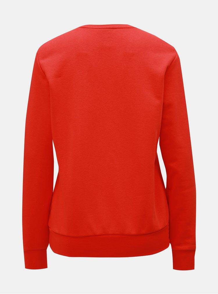 Bluza sport rosie de dama cu imprimeu adidas CORE
