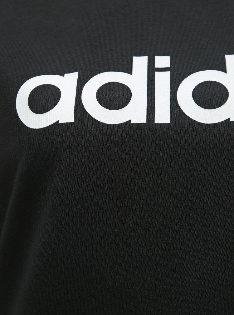 Čierna dámska mikina s potlačou adidas CORE