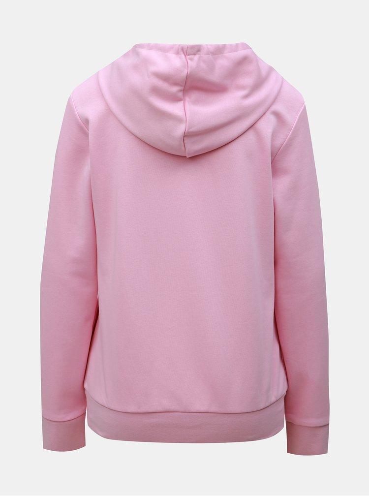 Růžová dámská mikina s potiskem adidas CORE